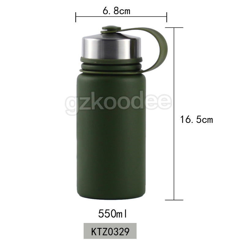 Outdoor Water Bottle Thermal Insulation Vacuum Flask 550 ml With Rope Koodee