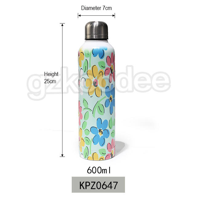 Water Thermoses Cute Design stainless steel Water Bottle 600 ml Koodee