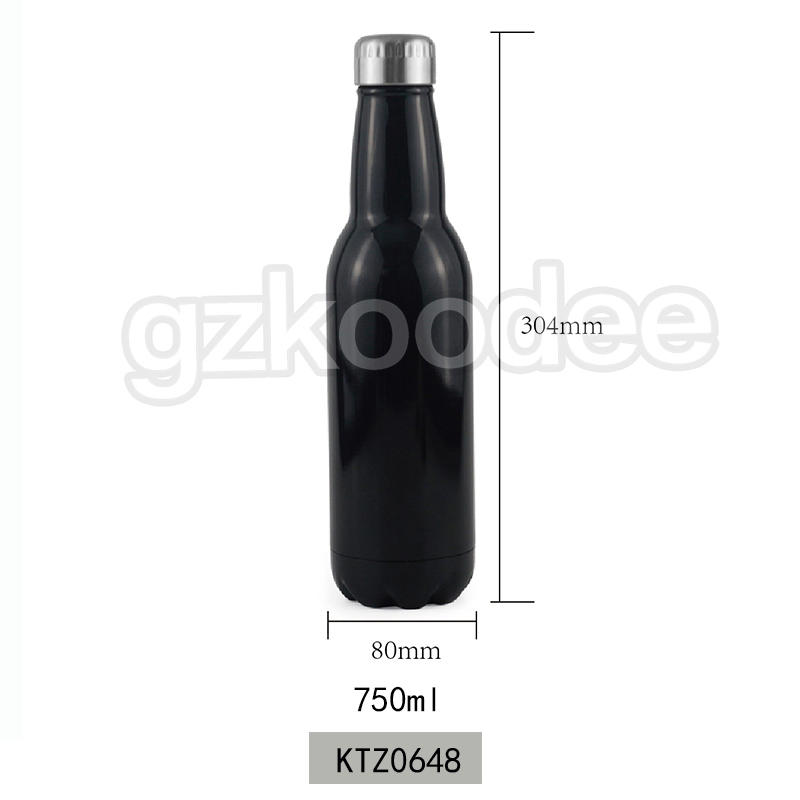 Beer Shape Water Bottle Double Wall Vacuum Flask 280 ml/350 ml/500 ml/750 ml