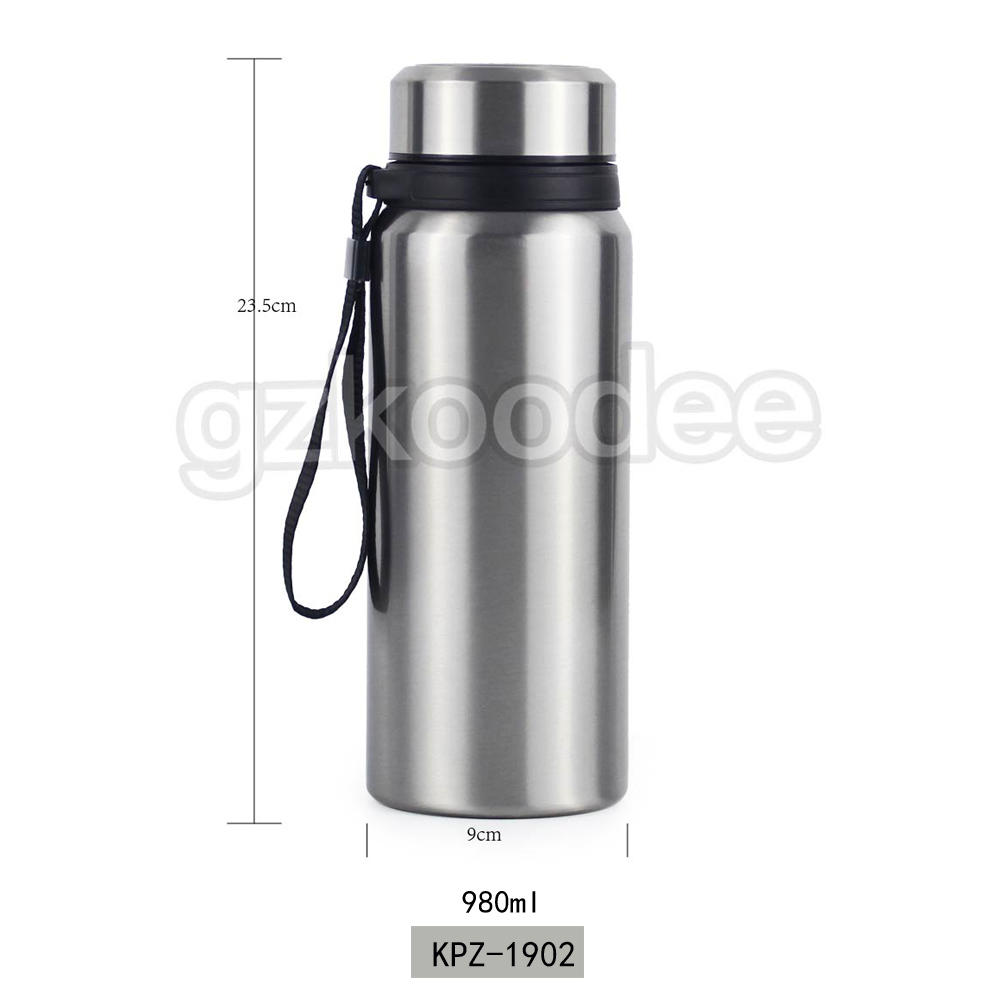 Double Wall Water Bottle Stainless Steel Insulated Vacuum Flask 980 ml Koodee
