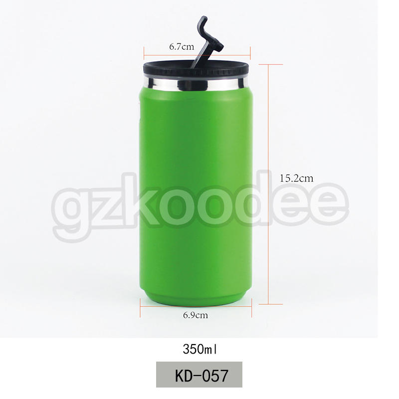 New Creative Cans Stainless Steel Vacuum Can thermos Water Bottle 350ml Koodee