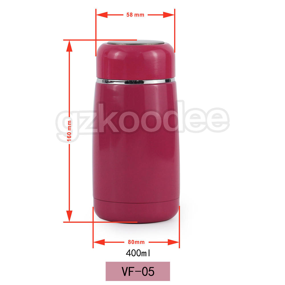 Double Wall Water Bottle Portable Thermal Insulated Vacuum Flask 400ml Koodee