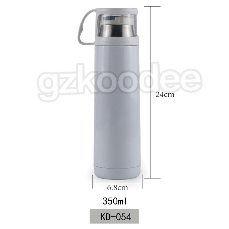 Vacuum Flask Thermal Insulated Stainless Steel Water Bottle With Cup Cap Koodee