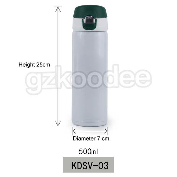 Flip Cap Stainless Steel  Double Wall Vacuum Flask 500ml Koodee
