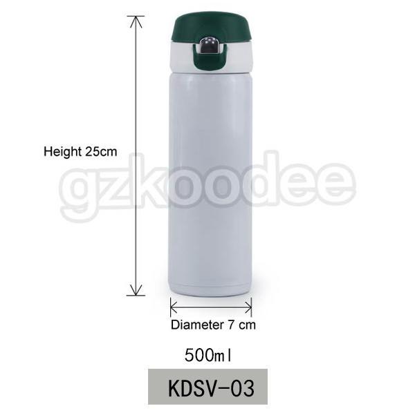 Flip Cap Stainless Steel  Double Wall Vacuum Flask 500ml Koodee