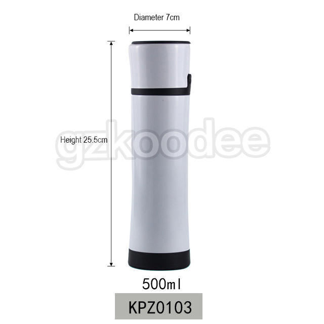 Vacuum Bottle Button Cap Stainless Steel Material 500ml Koodee
