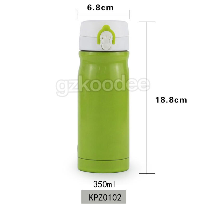 Flip Cap Water Bottle Customized Double Wall Stainless Steel Vacuum Bottle Outdoor Hydration Koodee