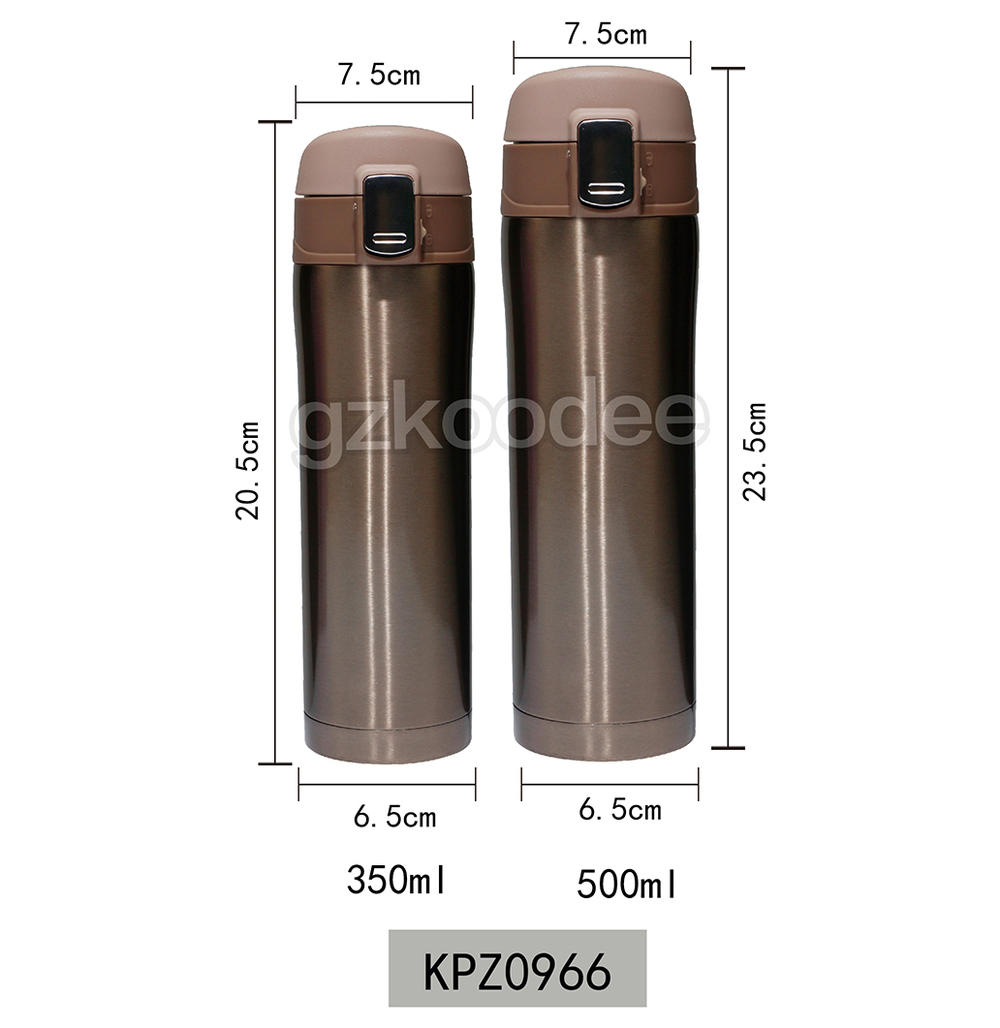 Flip Cap Thermos Double Wall Stainless Steel Material 450ml Koodee