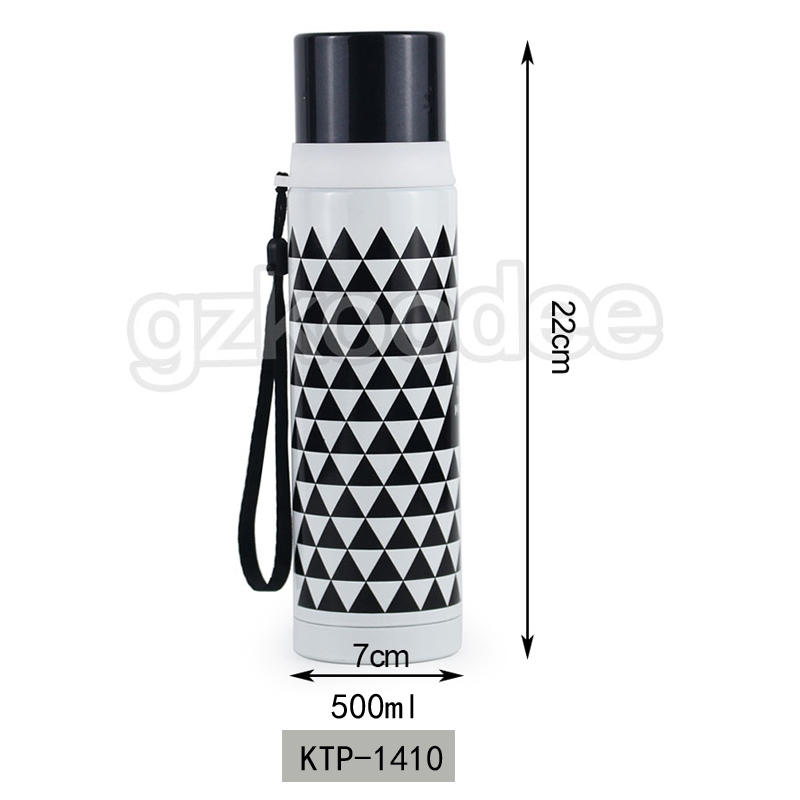 Vacuum Bottle Double Wall Stainless Steel With Rope 500ml Koodee