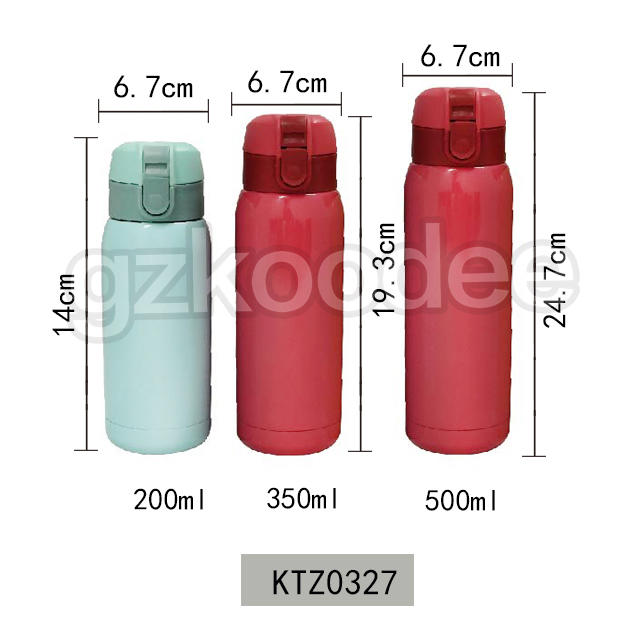 Flip Cap Thermos Cute Double Wall Stainless Steel Material 350ml/500ml Koodee