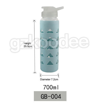 Borosilicate Glass Material Sports Drinkware Wholesale Glass Water Bottle 700ml Koodee
