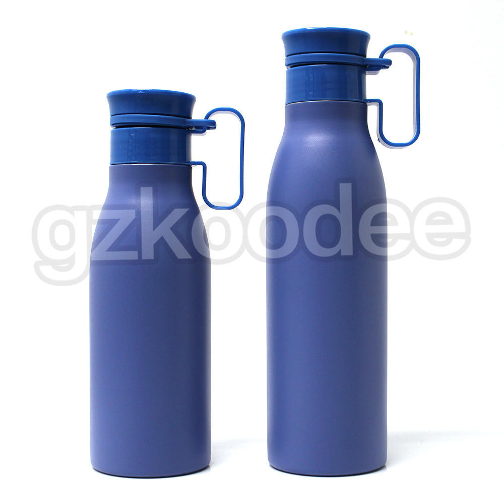 Water Bottle With Handle Double Wall Stainless Steel Material 580/750ml Koodee