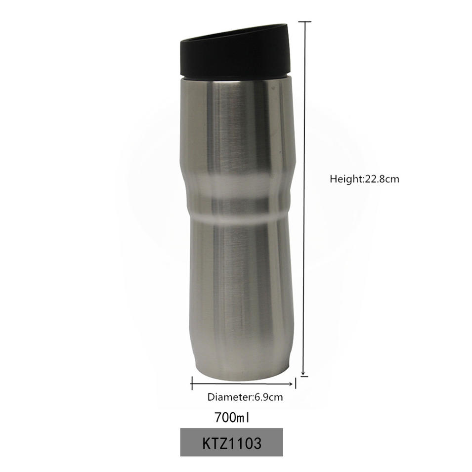 Vacuum Insulated Water Bottle Stainless Steel Double Wall Travel Bottle BPA Free Thermos Vacuum 700ml Koodee