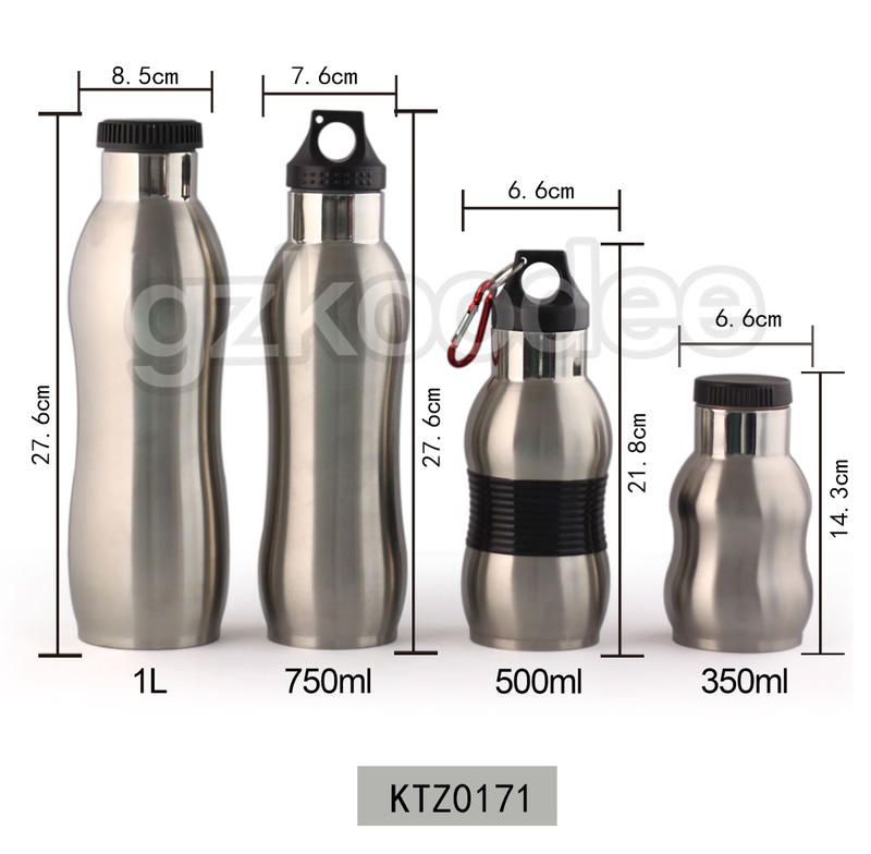 Koodee 350ml/500ml/750ml/1L  Single Wall Outdoor Bottle with Nozzle