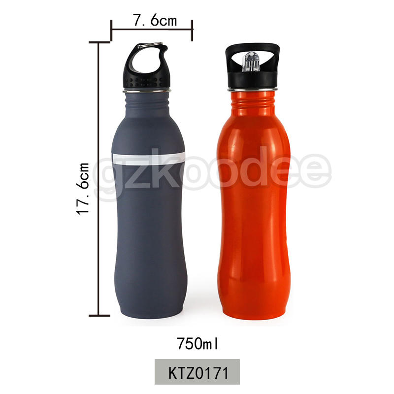 Koodee 750ml Custom Color Stainless Steel Single Wall Sport Water Bottle