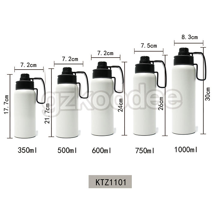 Double Wall Bottle With Straw Stainless Steel Vacuum Flask Water Bottle Hot Sale Koodee