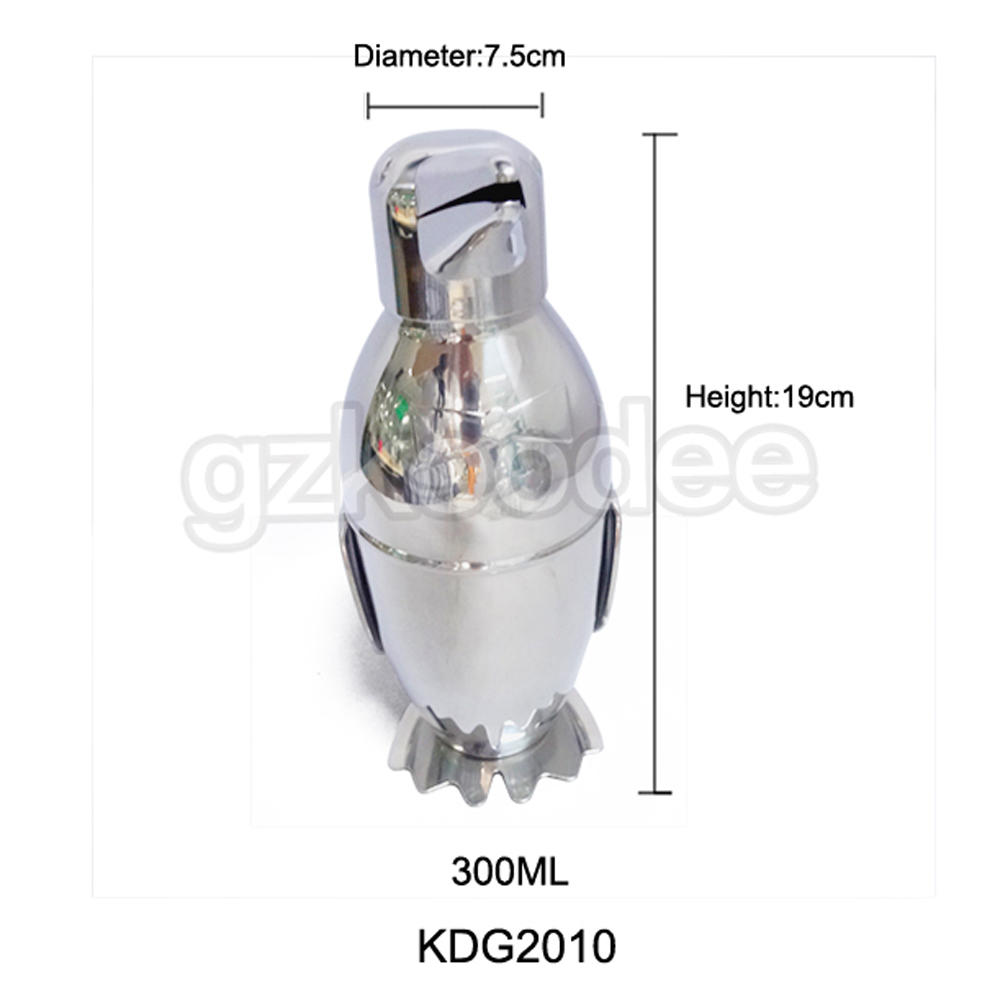 Bird Shape Stainless Steel Cocktail Shaker Bar Cocktail Mixer Drink Shaker Martini Mixer Drink Shaker 300ml Koodee