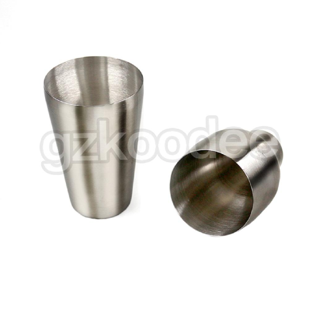 Koodee unbreakable stainless steel stemless wine glasses sloped mouth for beverage