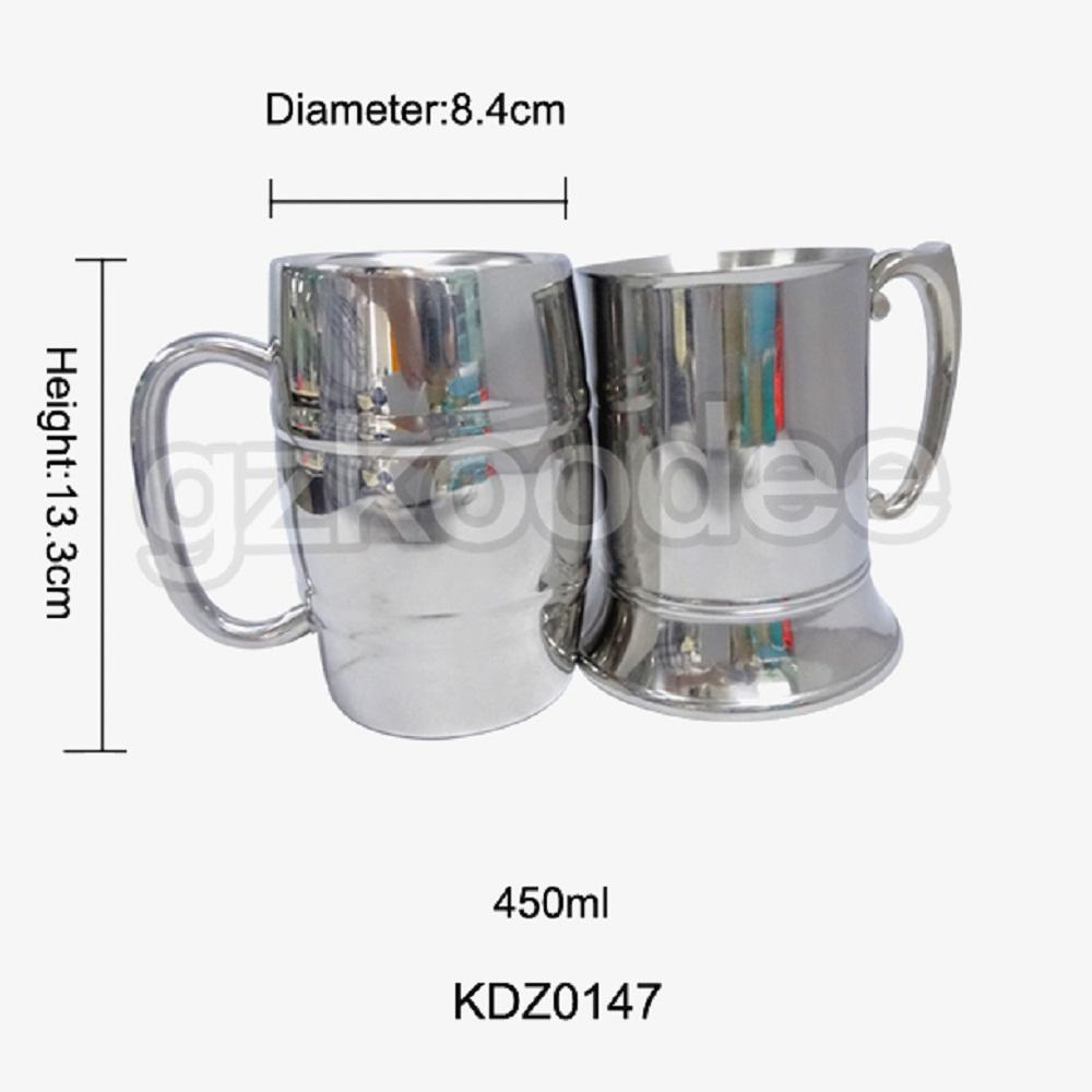 Hot Sale Premium Liquor 450ml Whiskey Threaded Stainless Steel Cup Koodee