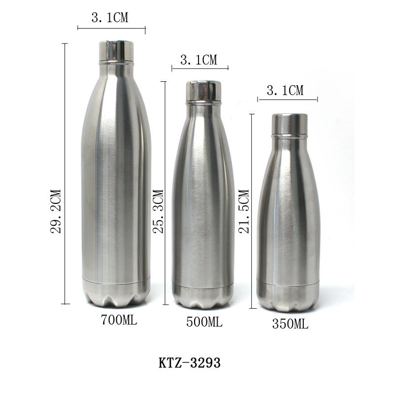Stainless Steel Water Bottle Thermal Insulated with stainless steel lid Koodee