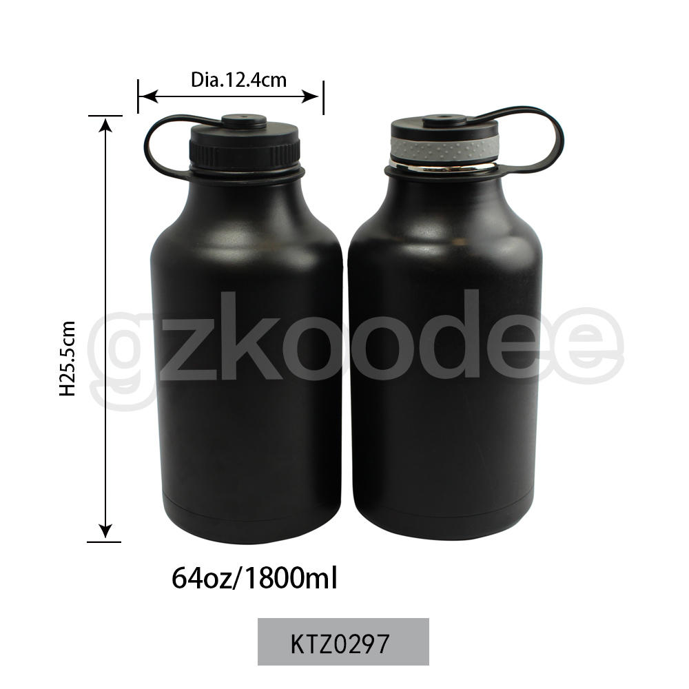 Vacuum Flask Big Size 64oz/1800ml Powder Coating Double Wall Stainless Steel Koodee