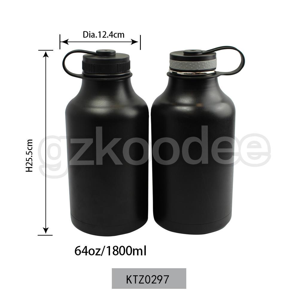 Vacuum Flask Big Size 64oz/1800ml Powder Coating Double Wall Stainless Steel Koodee