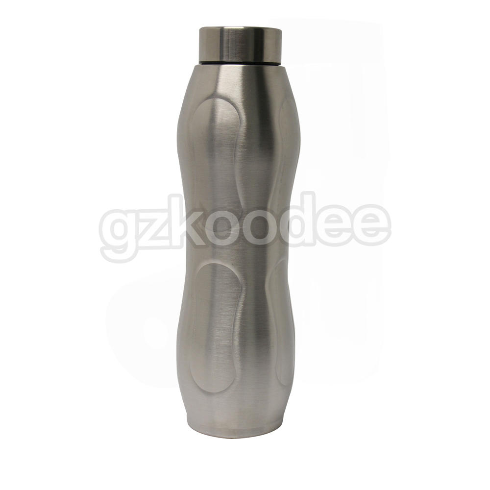Water Bottle Thermal Insulated Easy Handle Shape Double Wall Stainless Steel Koodee