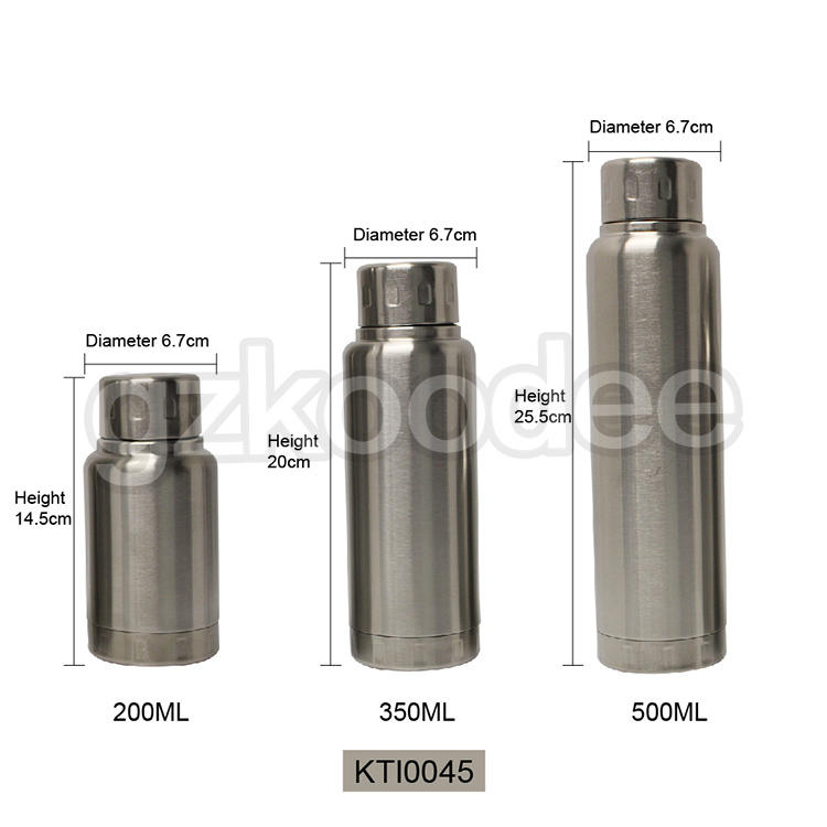 Vacuum Bottle Eco-friendly No Plastic Stainless steel 200/350/500 ml Koodee