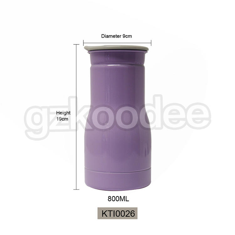 High Quality 800ml Single Wall Stainless Steel Sport Bottle Koodee Factory Customized