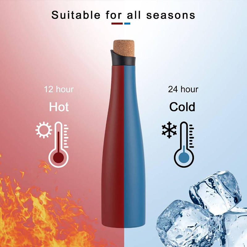 2020 New Design 304 Double Wall Stainless Steel Portable Water Bottle
