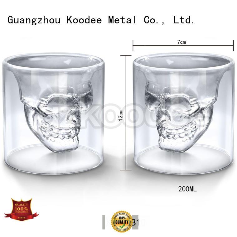 2019 new Fashion skull shape glass cup for wine 200ml Koodee