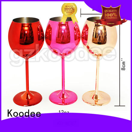 Koodee sloped mouth stainless wine glass coating for drinking