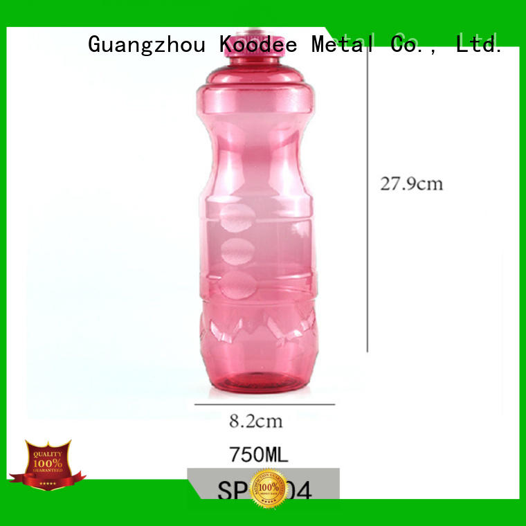Koodee solid color plastic water bottles for sale colorful at discount