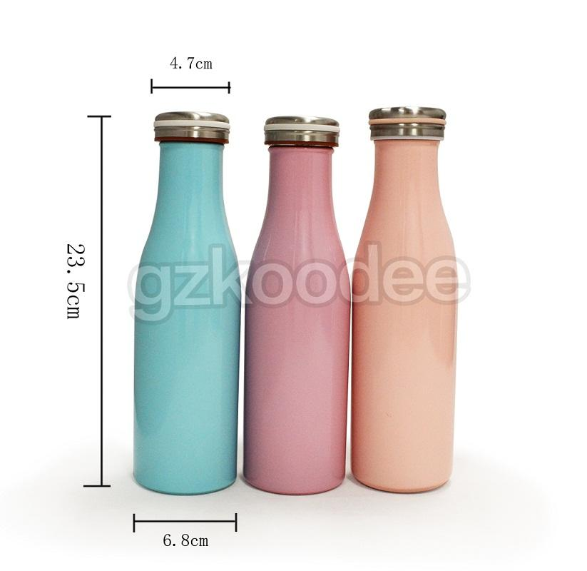 Double Wall Vacuum Flask Thermal Insulated Stainless Steel Cute Water Bottle-2