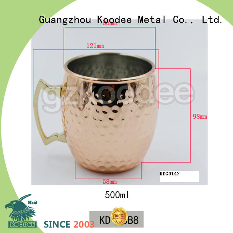 recycable metal wine cup skull shape for drinking Koodee