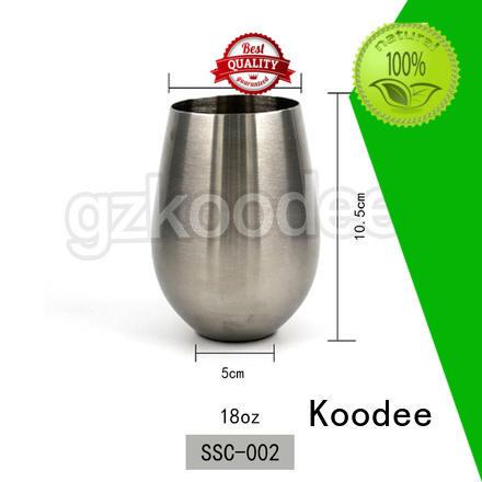 Koodee Newest 18oz Capacity Stainless Steel Wine Glass 18oz Koodee