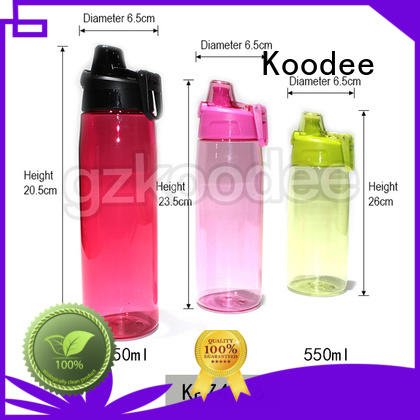 Koodee double wall plastic drinking bottles low price for student