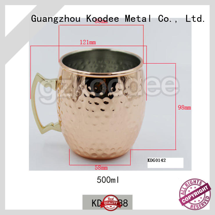 2019 new unbreakable stainless steel cooper plating wine mug for whiskey 500ml Koodee