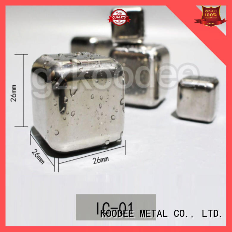 Koodee hot style best stainless steel ice cubes universal for spirit