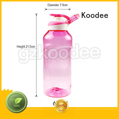 dumbbell shape empty plastic drinking bottles classic for coffee Koodee