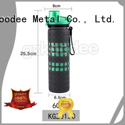 customized glass water bottle with lid bulk production for milk Koodee