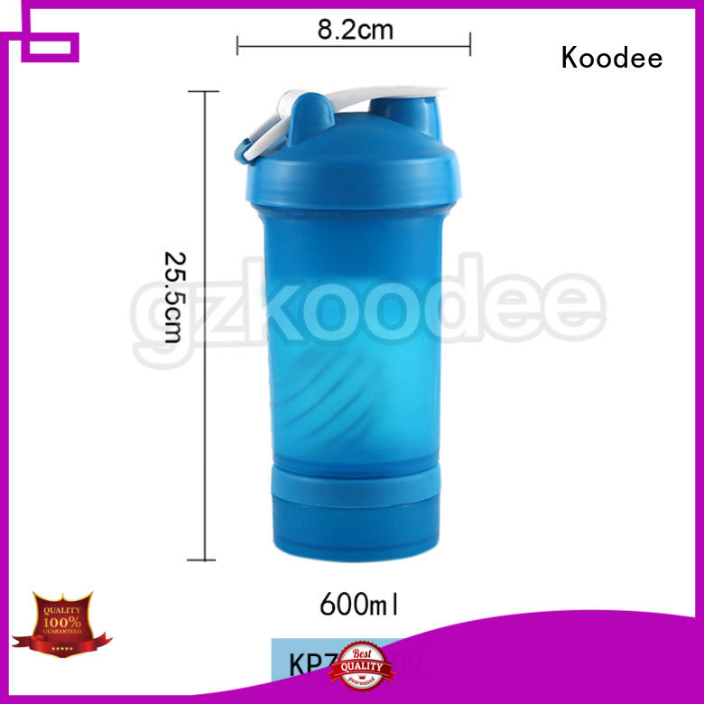 competitive glass water bottle with plastic outside competitive for coffee Koodee