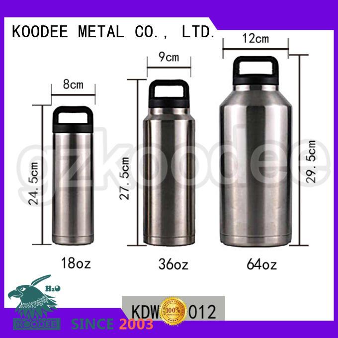 Double Wall Bottle Stainless Steel Vacuum Flask 18OZ/36OZ/64OZ Koodee