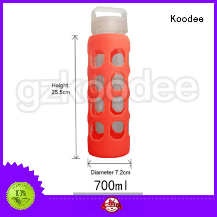 newly glass bottle with silicone sleeve sleeve glassware Koodee