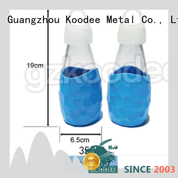 customized glass and silicone water bottle or glassware Koodee