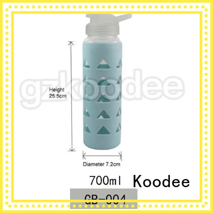newly glass water bottle silicone sleeve for traveler