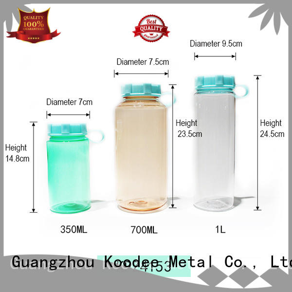wholesale glass water bottle with plastic outside outdoor for milk Koodee