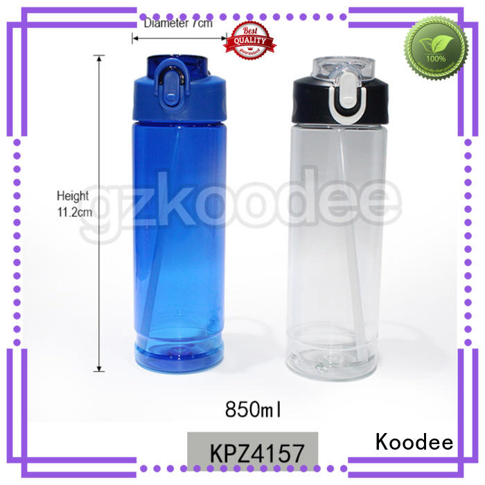 Koodee customized plastic water bottles for sale fitness for drinking