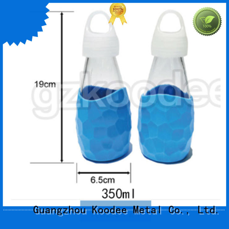 cheap factory price colored glass water bottles top brand for traveler Koodee