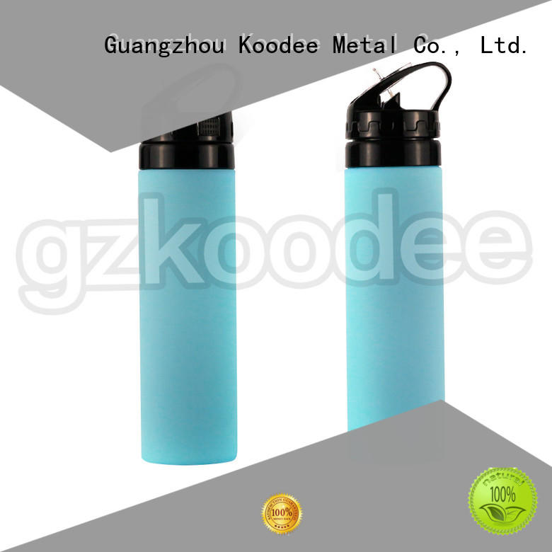 Koodee odm accepted collapsible silicone water bottle by bulk for green tea